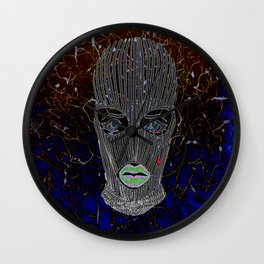 Masked Woman Wall Clock