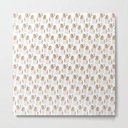 Grooming hare pattern Metal Print