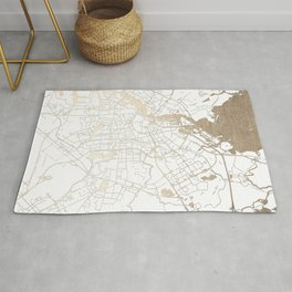 Amsterdam White on Gold Street Map II Rug
