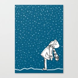 Snoweater Canvas Print
