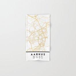 AARHUS DENMARK CITY STREET MAP ART Hand & Bath Towel