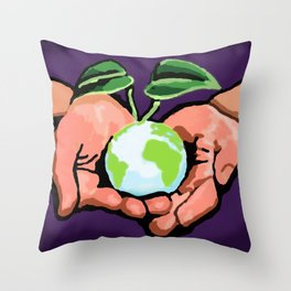 Care For Environment Throw Pillow