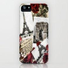 Postcards from Paris iPhone (5, 5s) Slim Case