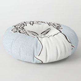 Manneken Pis sculpture Floor Pillow