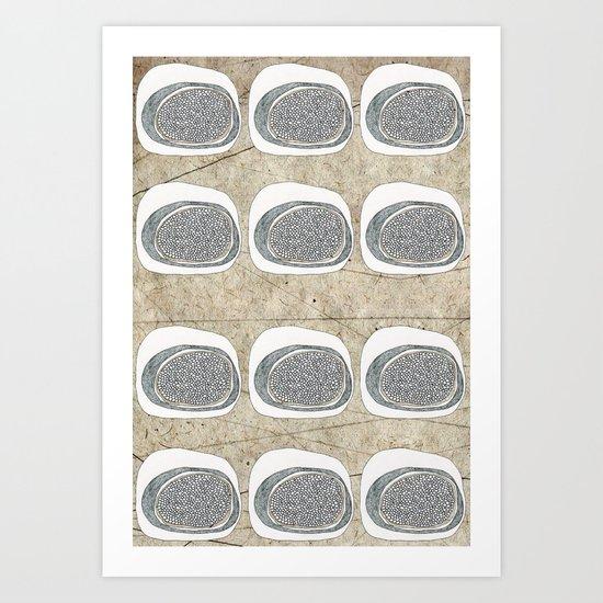 Stone Rows Art Print