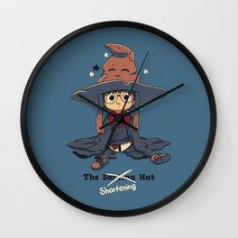The Shortening Hat Wall Clock