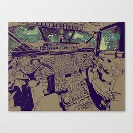 SpaceJet (Color) Canvas Print