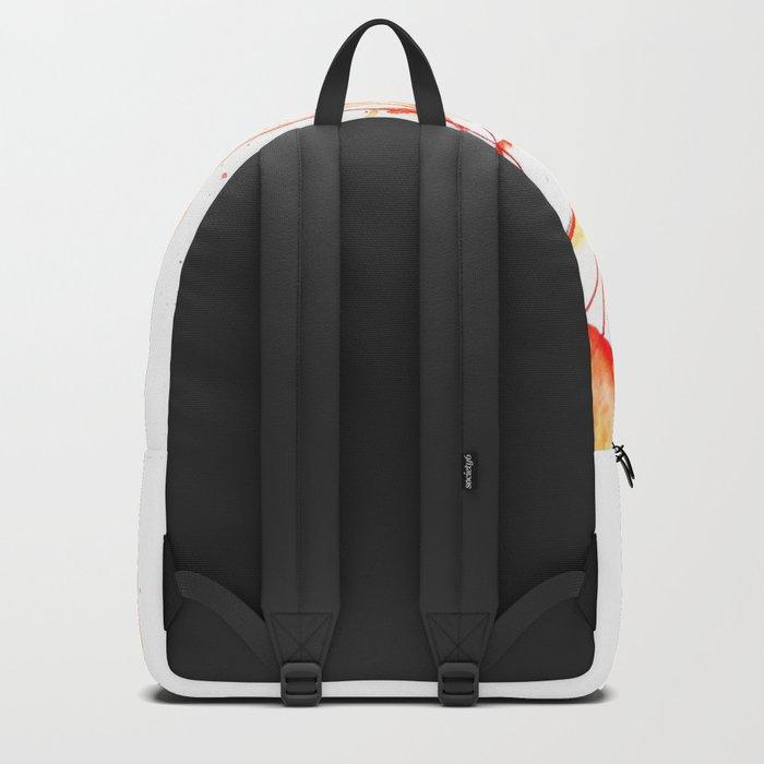 orange jellyfish watercolor Backpack