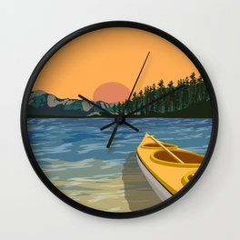 South Lake Tahoe Canoe Wall Clock