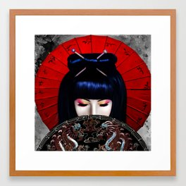 Sadness of a Geisha Framed Art Print