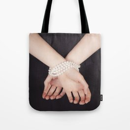Tied with pearls Tote Bag