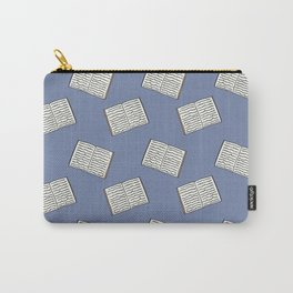 Open Book Pattern Carry-All Pouch