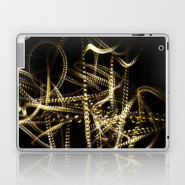 Abstract white and yellow light effect Laptop & iPad Skin