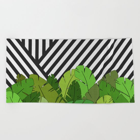 Green Direction Beach Towel