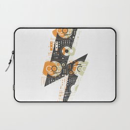 Dj's Lightning Of Vinyl Music Laptop Sleeve