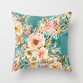 E-BULLIENCE Lush Floral Throw Pillow