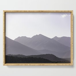 Rocky Mountain Sunset - Colorado Nature Photography Serving Tray