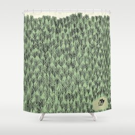 Forest house pattern Shower Curtain