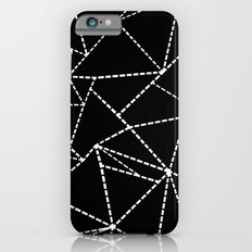 Abstract Dotted Lines White on Black Slim Case iPhone 6s