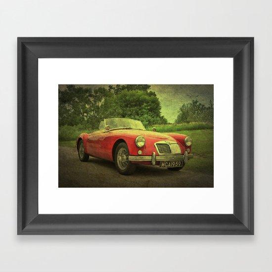 Top Down Framed Art Print