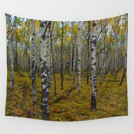 Fall forest walks in Jasper National Park Wall Tapestry