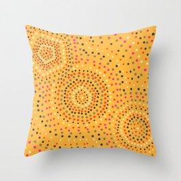 Aboriginal circles Throw Pillow