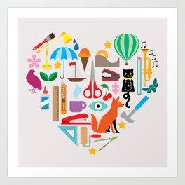 Heart It Art Print