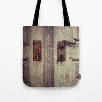 door Tote Bags featuring door by Deviens