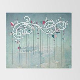 Heart Candy Raincloud Throw Blanket