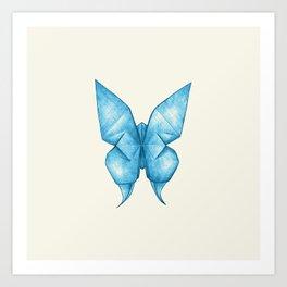 Paper Butterfly Art Print