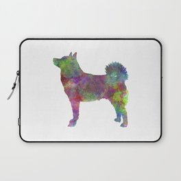 Norwegian Buhund in watercolor Laptop Sleeve