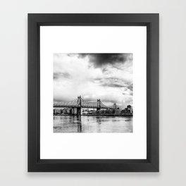 Queensboro Bridge. Framed Art Print