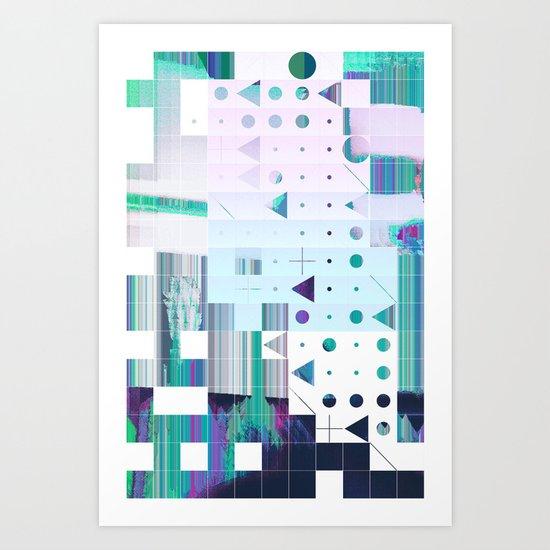 glytchwwt Art Print
