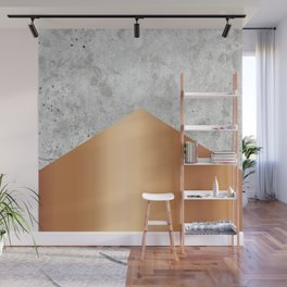 Geometric Concrete Arrow Design - Rose Gold #147 Wall Mural