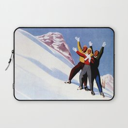Aosta Valley winter sports Laptop Sleeve