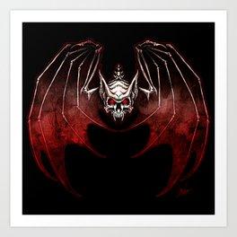 Thee Vampire Guild Bat Icon Art Print