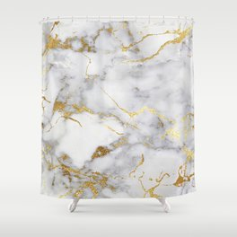 Italian gold marble Shower Curtain