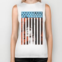 political Biker Tanks featuring Angela Davis Political Prisoner by Robert John Paterson