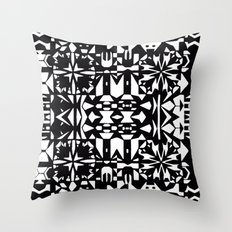 Black and White Square 3  Throw Pillow