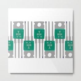 Complementary transistor PATTERN2 Metal Print