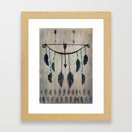 Bow, Arrow, and Feathers Framed Art Print