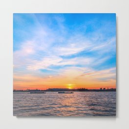 Sunset in a white night Metal Print