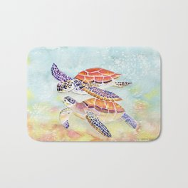 Swimming Together - Sea Turtle Bath Mat
