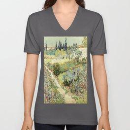 Vincent Van Gogh : Garden at Arles Unisex V-Ausschnitt