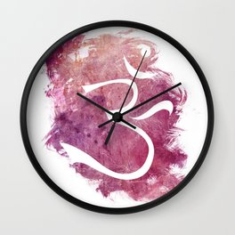 watercolor om 01 Wall Clock