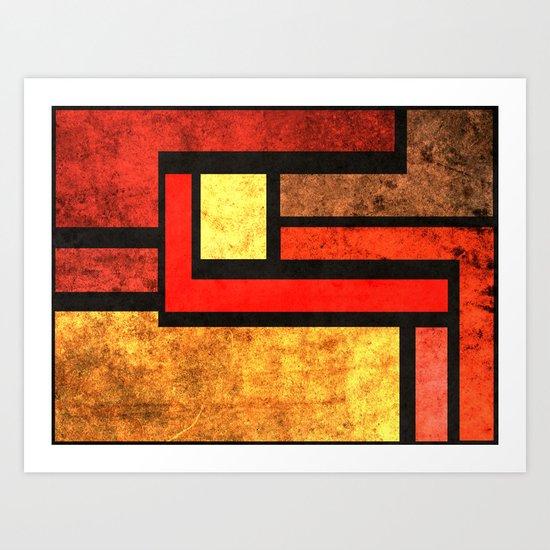 Red Yellow Orange Art Print