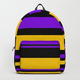 Black , purple , yellow stripe Backpack