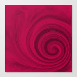 Red abstract pattern Canvas Print