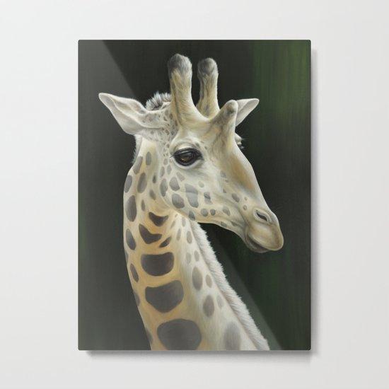 Giraffe Realistic Painting | Animal | Wildlife Art | Nursery Art | Cottage Decor | Home decor Metal Print