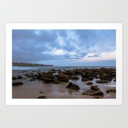 Rocks at the beach Art Print